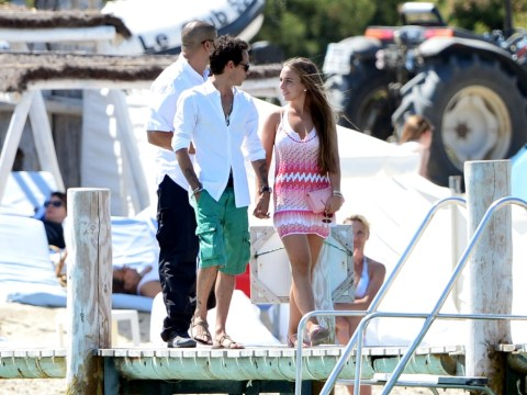Loved-up Marc Anthony and Chloe Green reconcile in St Tropez