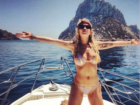Rita Ora in holiday bikini malfunction