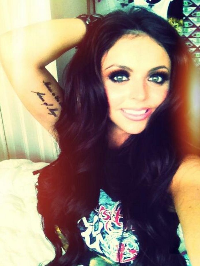 'A tiger never loses sleep over the opinion of sheep!': Little Mix's Jesy Nelson shows off two new tattoos