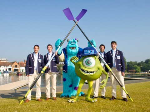 British rowers race for 'Team Monsters University' at Henley Regatta