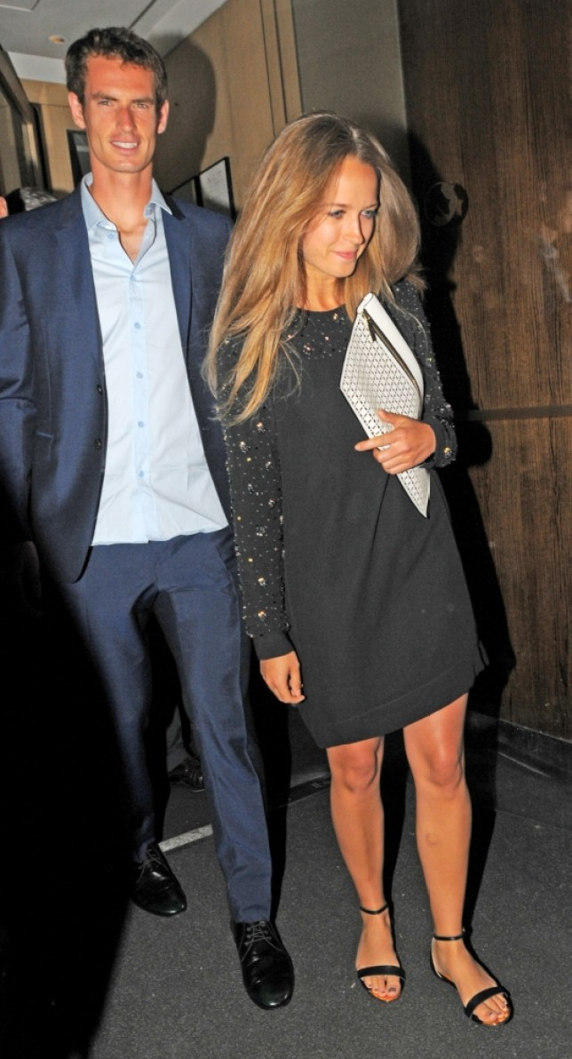 "9 July 2013 - LONDON - UK  ANDY MURRAY AND GIRLFRIEND KIM SEARS LEFT THE NOBU BERKELEY AFTER HAVING DINNER WITH SIMON FULLER TO A PACKED CROWD OF MEDIA AND PAPS, THEY WERE ESCORTED TO THERE CAR BY SECURITY BUT IN ALL THE FRENZY, ANDY MURRAY GOT ""SMASHED"" IN THE EYE/FACE, IT LOOKED QUITE SORE AS HE GOT INTO THE CAR. BYLINE MUST READ : XPOSUREPHOTOS.COM  ***UK CLIENTS - PICTURES CONTAINING CHILDREN PLEASE PIXELATE FACE PRIOR TO PUBLICATION ***  **UK AND USA CLIENTS MUST CALL PRIOR TO TV OR ONLINE USAGE PLEASE TELEPHONE  44 (0) 208 370 0291 or 1 310 600 4723"