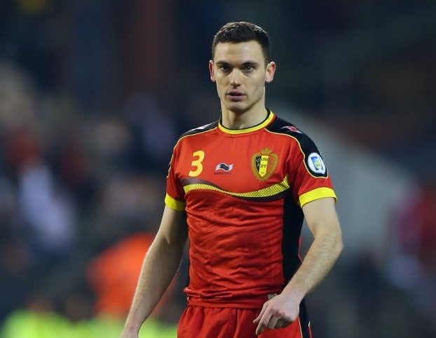 BRUSSELS, BELGIUM - MARCH 26: Thomas Vermaelen of Belgium looks on during the FIFA 2014 World Cup Qualifier between Belgium and Macedonia at Stade Roi Baudouis on March 26, 2013 in Brussels, Belgium.  (Photo by Bryn Lennon/Getty Images)