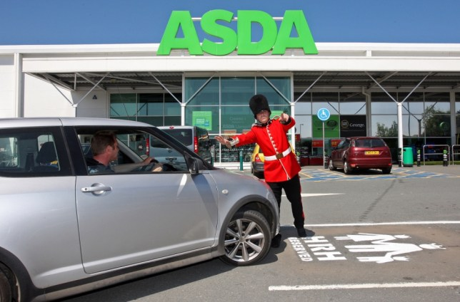 Undated Asda handout photo of the specially dedicated parking space for the Duke and Duchess of Cambridge and their future baby at the Asda store in Llangefni, Anglesey. PRESS ASSOCIATION Photo. Issue date: Thursday July 11, 2013. See PA story ROYAL Baby Supermarket. Photo credit should read: Asda/PA Wire NOTE TO EDITORS: This handout photo may only be used in for editorial reporting purposes for the contemporaneous illustration of events, things or the people in the image or facts mentioned in the caption. Reuse of the picture may require further permission from the copyright holder.