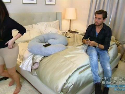 Kim Kardashian embarrasses Scott Disick by flashing her Spanx shorts