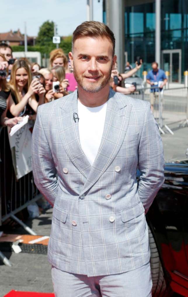 Judge Gary Barlow arrives at Wembley Arena for the London auditions of the ITV1 talent show, The  X Factor.  PRESS ASSOCIATION Photo. Picture date: Monday July 15, 2013. Photo credit should read: Jonathan Brady/PA Wire