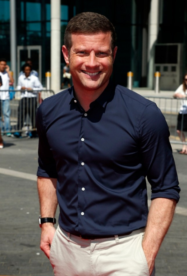 Host Dermot O'Leary arrives at Wembley Arena for the London auditions of the ITV1 talent show, The  X Factor.  PRESS ASSOCIATION Photo. Picture date: Monday July 15, 2013. Photo credit should read: Jonathan Brady/PA Wire