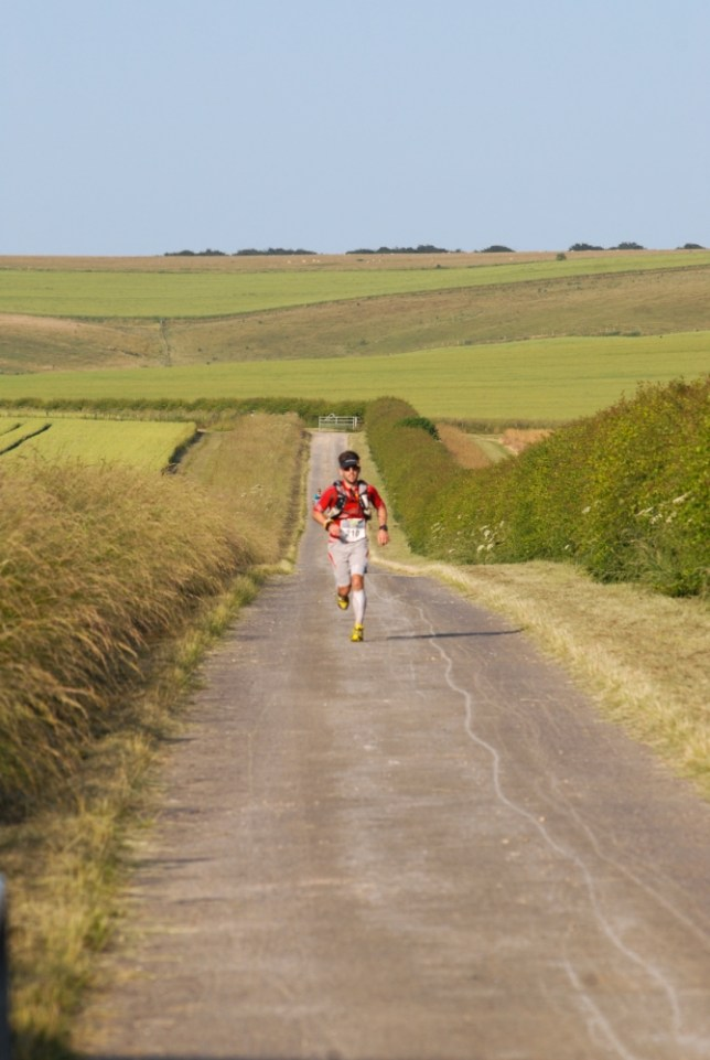 Tobias Mews takes on an ultra marathon in the heat (Picture: James Carnegie)