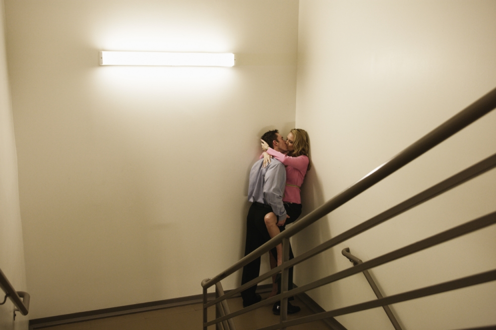 A woman (not pictured) got her head stuck in a banister during a stairwell romp (Picture: File)