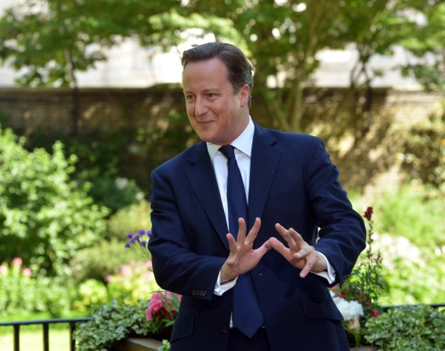 David Cameron talking to Andrew Marr in the garden at 10 Downing Street (Picture: Jeff Overs/BBC/PA Wire)