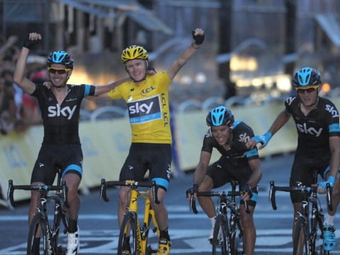 Chris Froome sheds tears after winning 100th edition of the Tour de France