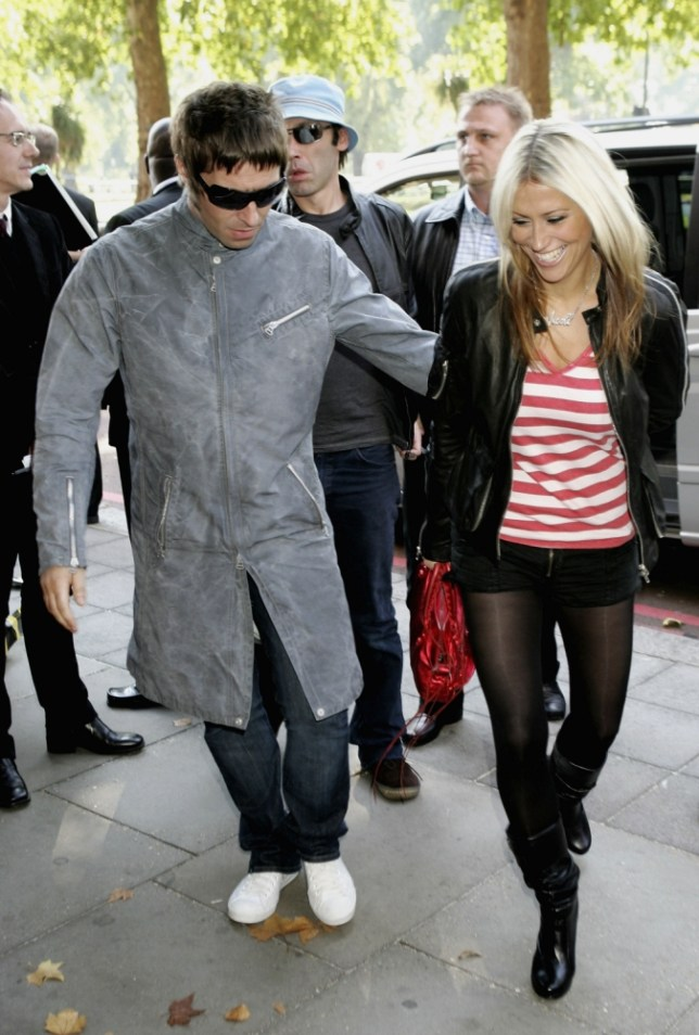 LONDON - OCTOBER 10:  Singer Liam Gallagher arrives with Nicole Appleton at The Q Awards, the annual magazine?s music awards, at Grosvenor House on October 10, 2005 in London, England.  (Photo by Chris Jackson/Getty Images)