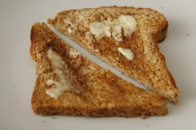 Why does toast always land butter side down?