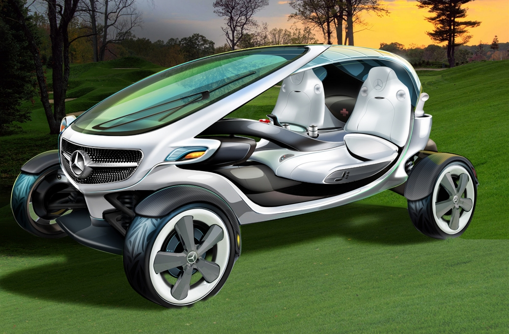 Mercedes Benz reveal the world's funkiest golf buggy