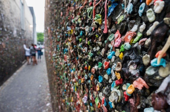 California's 21m-long Bubblegum Alley has been around for decades (Picture: Alamy)