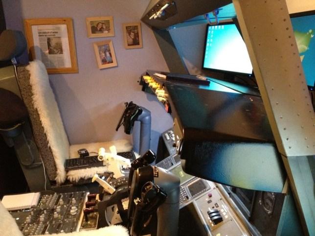 Flight simulator: Laurent Aigon