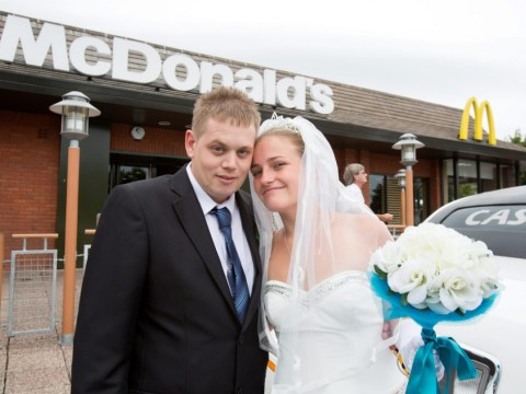 Newlyweds and 33 guests celebrate reception at McDonald's