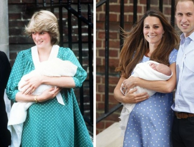 Similar: Diana in 1982, Kate in 2013 (Picture: PA)