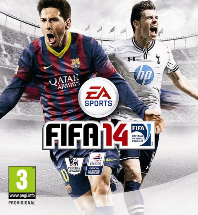 Gareth Bale (left) stars alongside Lionel Messi on the cover of Fifa 14 (Picture: EA Sports)