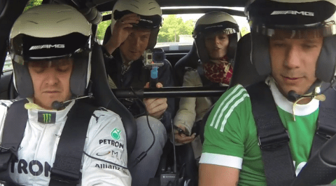 Lukas Podolski risks wrath of Arsene Wenger by racing around Nurburgring at 170mph