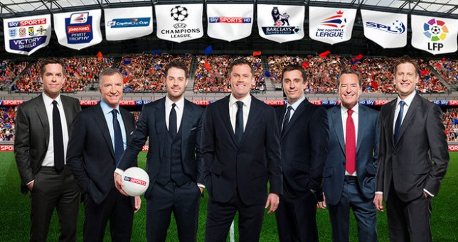 Ready to go: Sky Sport's football team for the 2013/2014 season, including recent addition  Jamie Carragher. (Picture: Sky Sports)