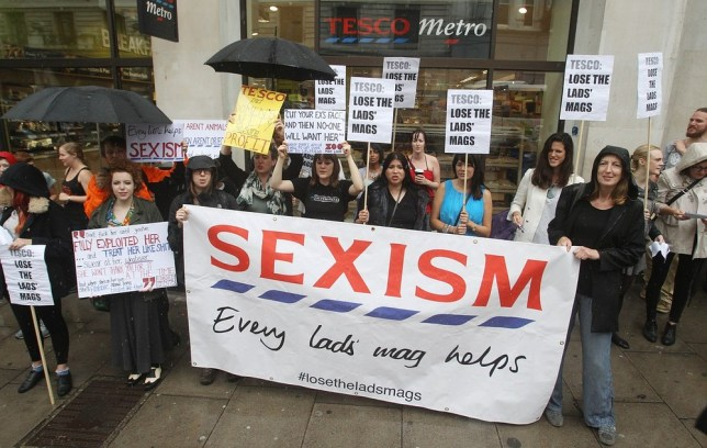 Protesters at the Tesco store in Regent Street, London (Picture: PA Wire/Press Association Images)