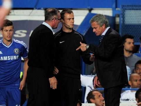 Chelsea boss Jose Mourinho and Aston Villa manager Paul Lambert go toe-to-toe at Stamford Bridge