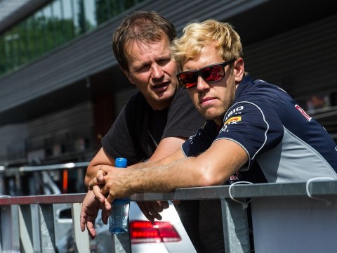 Red Bull's Sebastian Vettel sports new blonde locks at Belgian Grand Prix