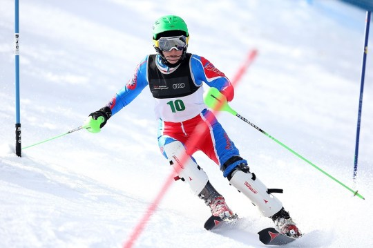 QUEENSTOWN, NEW ZEALAND - AUGUST 22:  Heather Mills of Great Britain competes in the Womens Slalom Standing LW4 race during the IPC Alpine Adaptive Slalom World Cup on day eight of the Winter Games NZ at Coronet Peak on August 22, 2013 in Queenstown, New Zealand. Getty Images