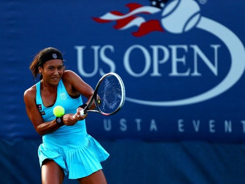 US Open 2013: Tearful Heather Watson rues costly errors as she crashes out to Simona Halep in first round