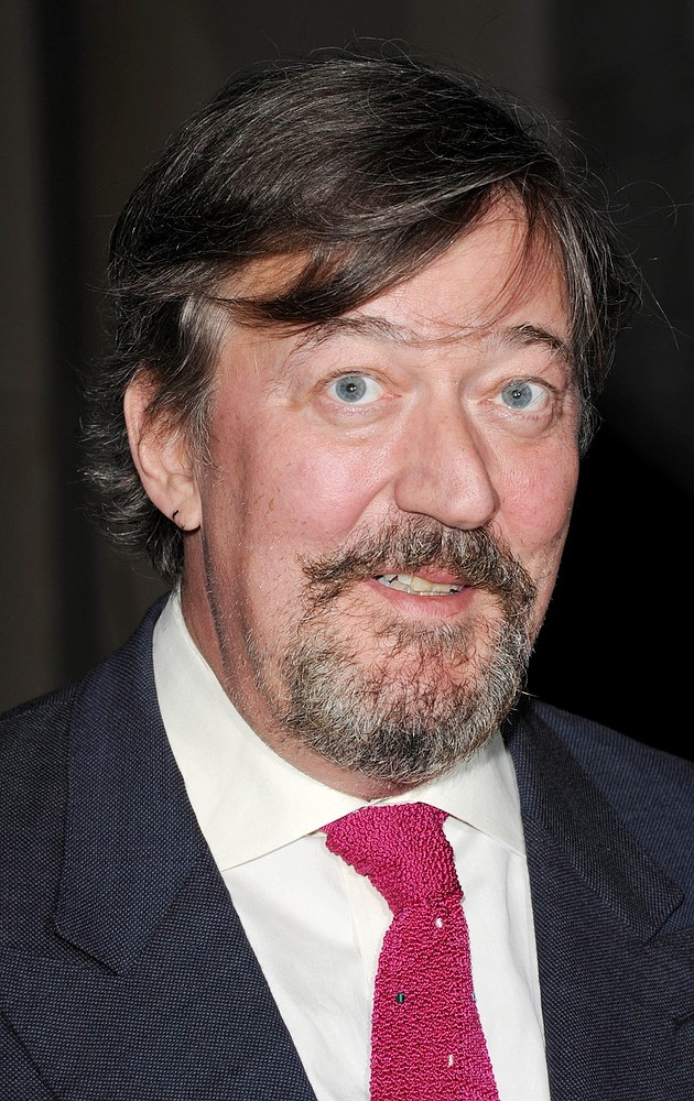 Geek chic: Stephen Fry is a way cooler dinner companion that many Hollywood A-listers (Picture: Getty Images)