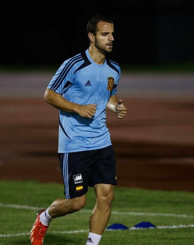 FORTALEZA, BRAZIL - JUNE 25: Roberto Soldado of Spain excercises appart from the rest of the group during a training session ahead of their FIFA Confederations Cup Brazil 2013 semi final game against Italy on June 25, 2013 in Fortaleza, Brazil. Getty Images