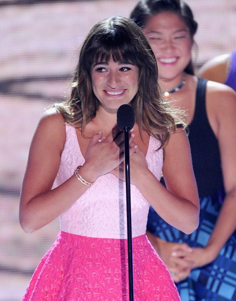 Lea Michele admits she felt like the 'luckiest girl in the world' to be dating Cory Monteith