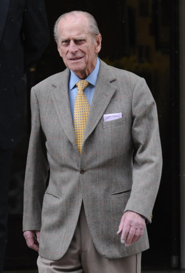 Prince Philip leaves King Edward VII Hospital in London today after suffering a chest infection. PRESS ASSOCIATION Photo. Picture date: Sunday April 6 2008. The Duke of Edinburgh left hospital today following three days' treatment and monitoring for a chest infection. See PA story ROYAL Philip. Photo credit should read: Stefan Rousseau/PA Wire