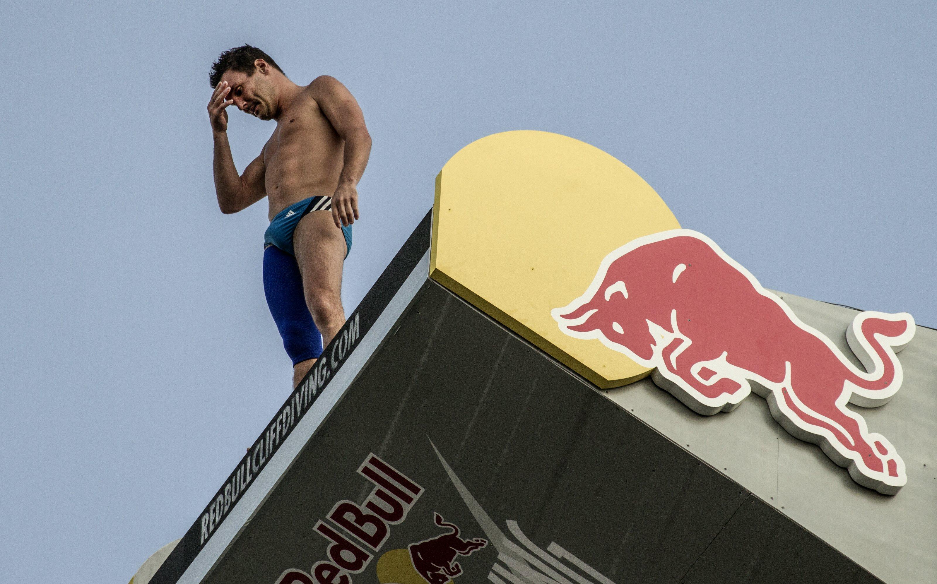Preparing to dive in Boston (Picture: Blake Aldridge)