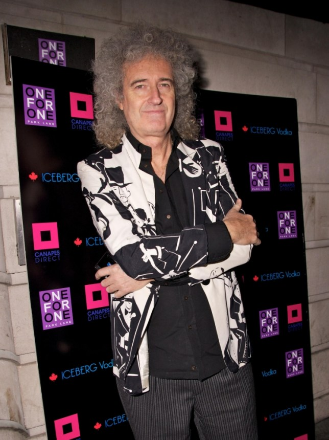 English musician and singer Brian May arrives for the Vincent and Flavia's post-Strictly/pre-Midnight Tango party held at the One For One Park Lane in Mayfair, London, England.   C9G426 London, UK, 19/12/2011