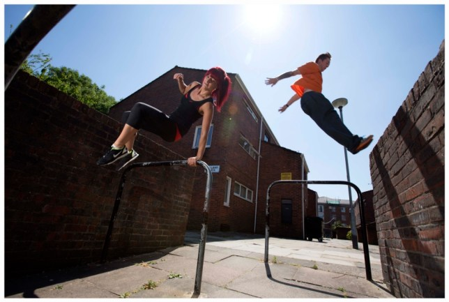 Vicki-Marie Cossar overcomes her fears to leap over walls and railings (Picture: Gretel Ensignia)