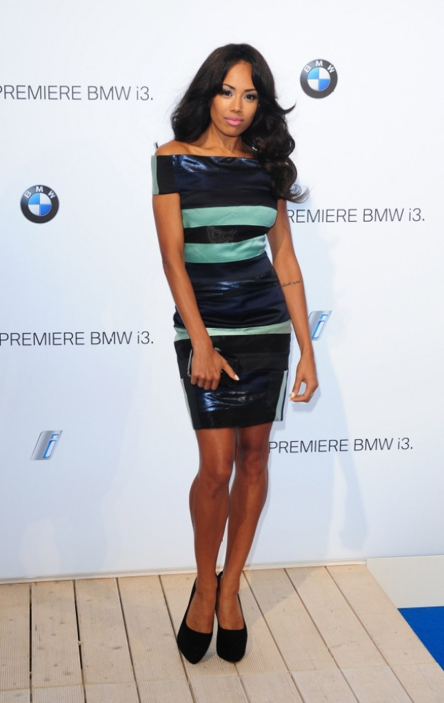 Jade Ewen arrives at the launch party of the new electric BMW i3 at Old Billingsgate Market in London. PRESS ASSOCIATION Photo. Picture date: Monday July 29, 2013. Photo credit should read: Ian West/PA Wire