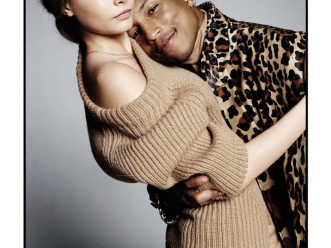 Cara Delevingne swaps her 'wifey' for showbiz hubby Pharrell Williams in cosy Vogue shoot