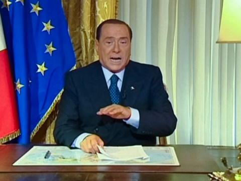 Angry Silvio Berlusconi hits out at 'baseless' fraud conviction – video