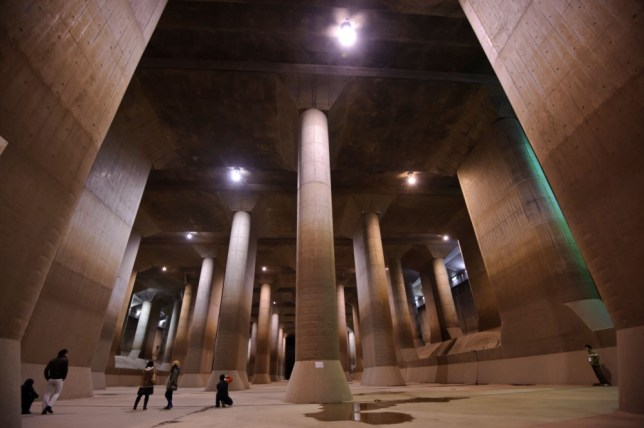 The Water Discharge Tunnel on The Outskirts of Tokyo is one of the world's largest civil engineering projects. (Picture: Alamy)