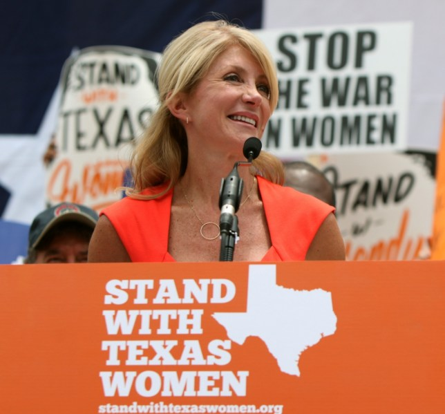Texas senator Wendy Davis spoke for 10 hours to prevent an anti-abortion Bill being passed (Picture: Getty)