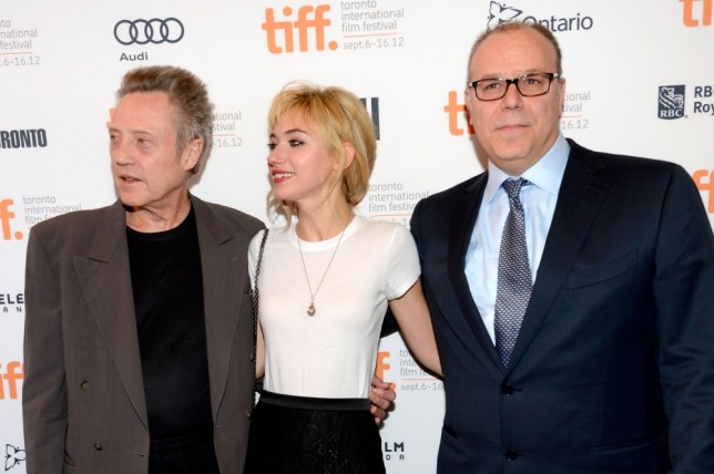 Yaron Zilberman (right) with Christopher Walken and Imogen Poots demonstrates a connoisseur's choice (Picture: Getty)