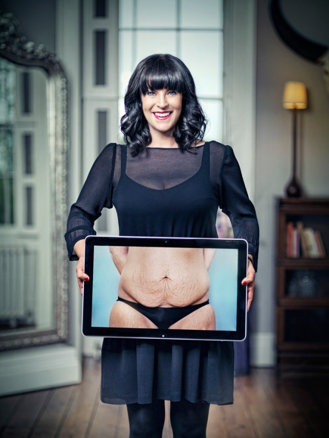 Anna Richardson undergoes some surgical treatment in How Not To Get Old (Picture: Channel 4)