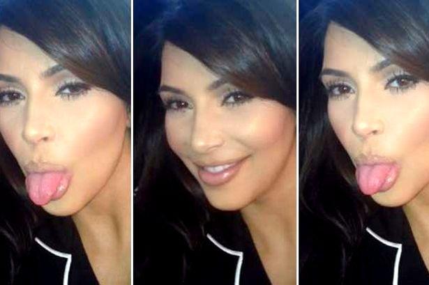 Kim Kardashian gets cheeky in Keek video