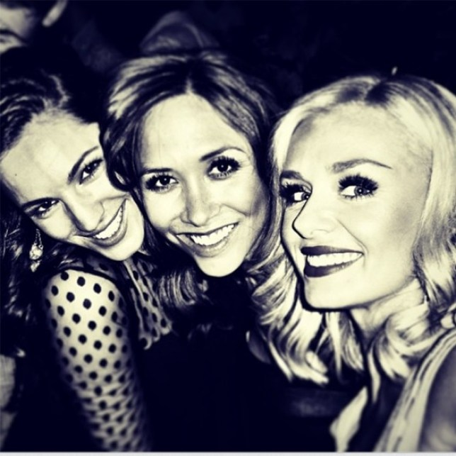 Kelly cosies up to Myleene and Katherine on a night out (Picture: Instagram)