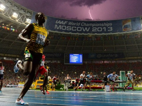 Usain Bolt sees off Justin Gatlin to race to world 100metres title in Moscow