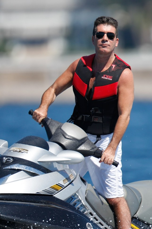 X Factor mogul Simon Cowell entertains blondes and ex-girlfriends on his £50million yacht
