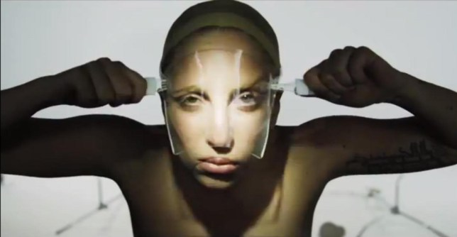 ****Ruckas Videograbs****  (01322) 861777 *IMPORTANT* Please credit YouTube for this picture. 13/08/13 Grabs from footage posted on Lady Gaga's official YouTube page of a video called 'Lady Gaga Is Over'. The footage shows Gaga topless with a flickering light on her face with subtitles encouraging people to avoid her single 'Applause', calling her a flop and saying she is no longer relevant. She also rips off a mask of her face as the subtitles tells viewers to avoid her album ('ARTPOP'). Office  (UK)  : 01322 861777 Mobile (UK)  : 07742 164 106 **IMPORTANT - PLEASE READ** The video grabs supplied by Ruckas Pictures always remain the copyright of the programme makers, we provide a service to purely capture and supply the images to the client, securing the copyright of the images will always remain the responsibility of the publisher at all times. Standard terms, conditions & minimum fees apply to our videograbs unless varied by agreement prior to publication.