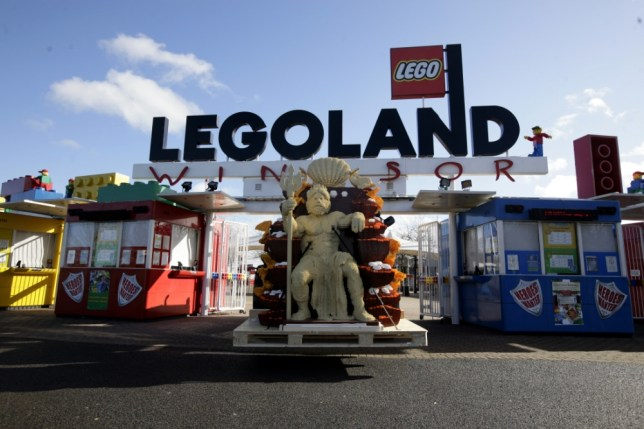 Embargoed to 0001 Tuesday February 15 A delivery of LEGO models at LEGOLAND Windsor, Berks, for their new Atlantis Submarine Voyage attraction.