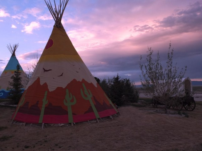 Mustang Monument's luxury teepees overlook the Nevada desert (Picture: supplied)